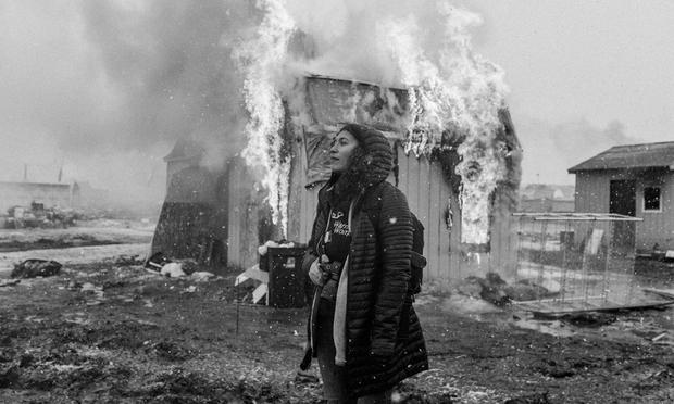 Guerrera en Standing Rock, Dakota del Norte. Foto: Josué Rivas