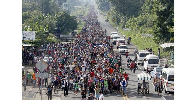 Caravana de migrantes centroamericanos, Chiapas, octubre de 2018. Foto: Víctor Camacho/La Jornada