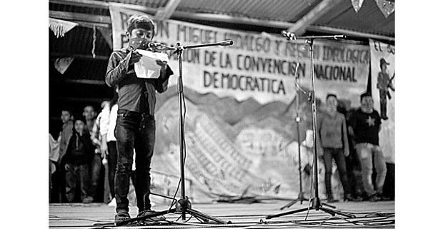 Celebración del 25 aniversario del alzamiento zapatista. La Realidad, Chiapas. Foto: Cristian Rodríguez Pinto (Chiapas Paralelo)