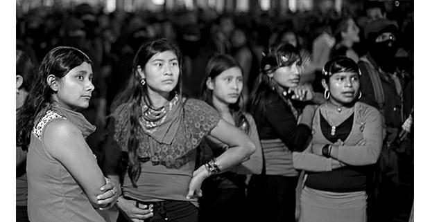 Jóvenes bases de apoyo del EZLN, La Realidad. 1 de enero de 2019. Foto: Cristian Rodríguez Pinto (Chiapas Paralelo)