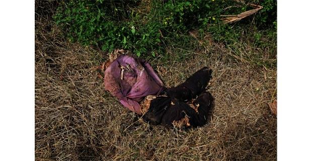 Muñeco de trapo en Aldama, para despistar a los paramilitares de Chenalhó, Chiapas. Foto: Luis Enrique Aguilar
