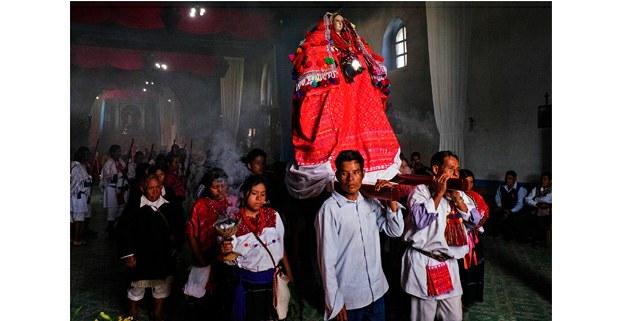 Ceremonia en Magdalena, Chiapas