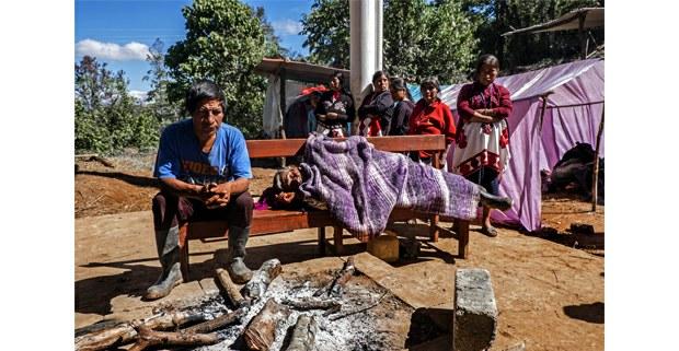 Desplazados de Chalchihuitán, Chiapas. Foto: Luis Enrique Aguilar
