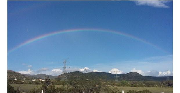 Arcoíris en el Altiplano, San Luis Potosí. Foto: Ojarasca