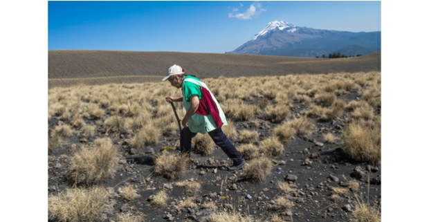 Camino al ombligo del Popocatépetl. Foto: Ernesto Ramírez