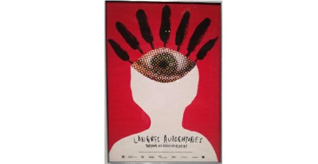 Las lenguas autóctonas, factor de desarrollo. Cartel. Museo McCord, Montréal.