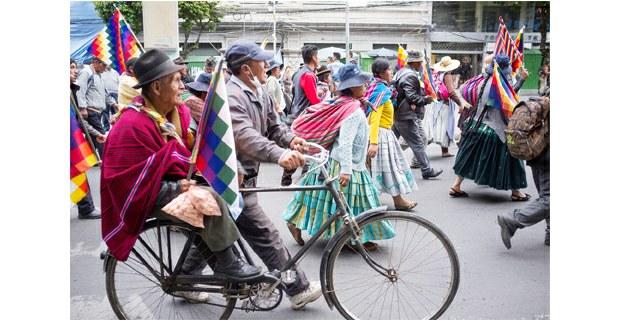 Movilización indígena de El Alto Bolivia. Foto: Gerardo Magallón