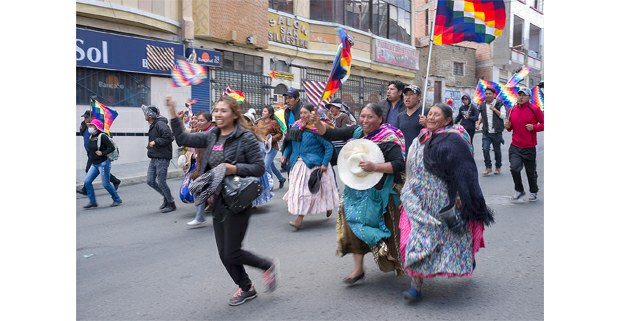 La wiphala se respeta. Bolivia. Foto: Gerardo Magallón
