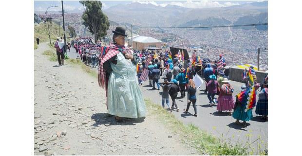 Movilización indígena en El Alto, Bolivia. Foto: Gerardo Magallón