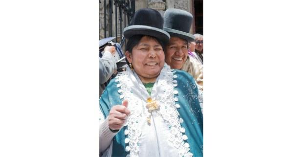 Cholitas de fiesta en La Paz. Foto: Gerardo Magallón