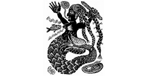 La sirena, grabado de Alec Dempster