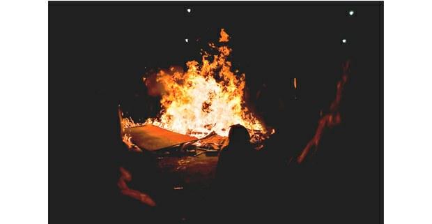 La rabia encendida, 8 de marzo de 2020, Plaza de la Constitución, Ciudad de México. Foto: Mario Olarte