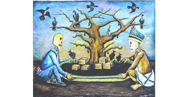 El plato de petróleo y el árbol de la abundancia: Brus Rubio
