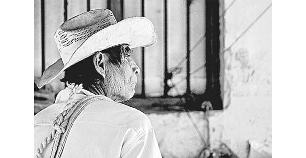Campesino en el Jovel. Foto: Mario OIarte