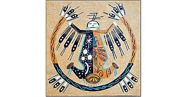 Arte curativo navajo en la arena. Foto: Dominio público
