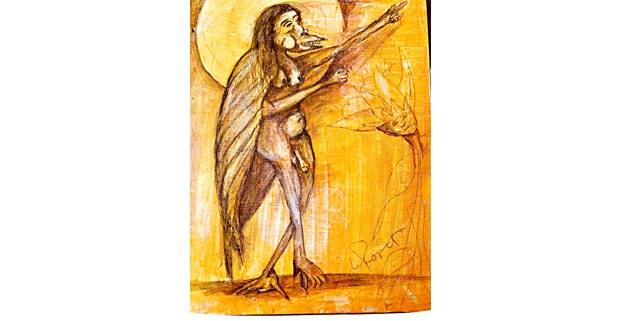 El grillo. Ilustración: L. Roque
