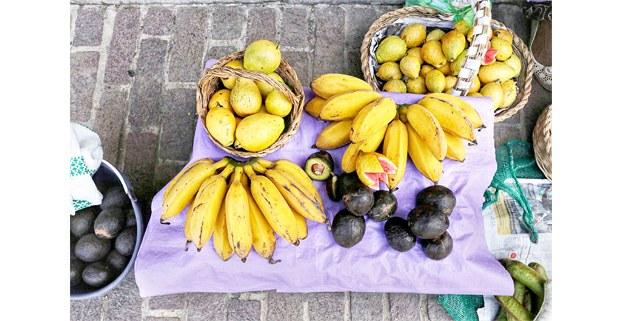 Puesto de frutas en Malinalco, Estado de México, 2020. Foto: Mario Olarte
