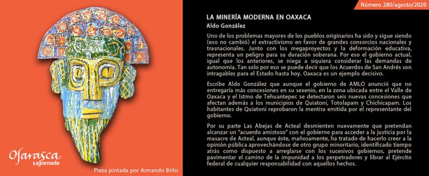 <br>LA MINERÍA MODERNA EN OAXACA <br>