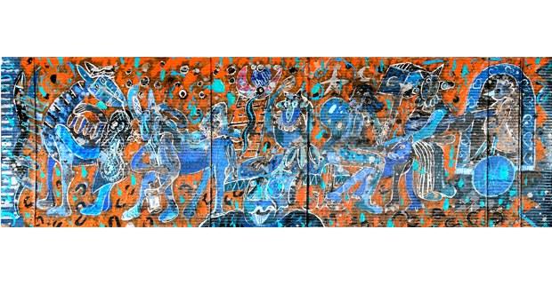 Pintura sobre cartón de Armando Brito