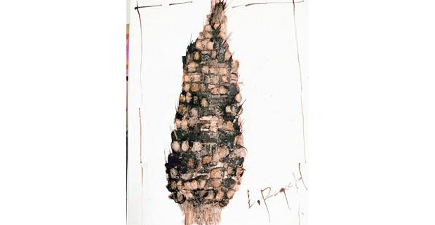 Tinta de cochinilla sobre papel de Lamberto Roque Hernández