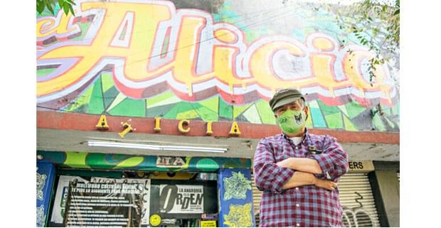 Ignacio Pineda frente al Alicia, 2020. Foto: Gerardo Magallón
