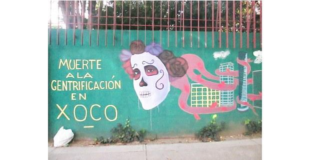 En un muro del panteón de Xoco, CDMX, 2021. Foto: Ojarasca