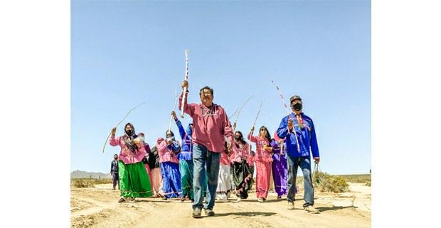 Marcha y reunión de las comunidades comca'ac en la costa de Sonora, 27 de marzo de 2021. Foto: Astrid Arellano / Proyecto Puente