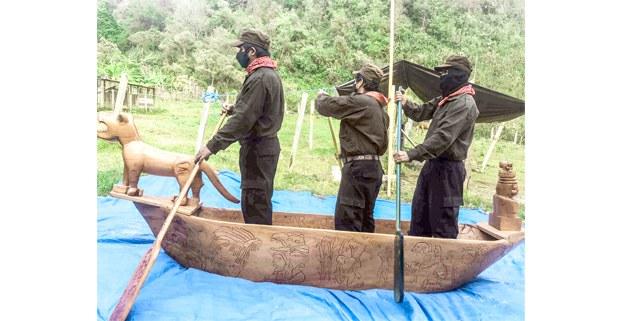 Salida de la selva de las embarcaciones zapatistas, abril de 2021. Foto: Tercios Compas/Enlace Zapatista