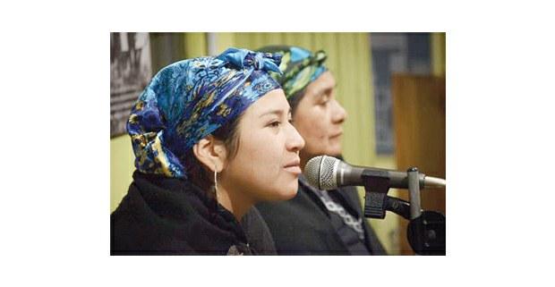 En la foto: Soraya Maicoño, vocera mapuche